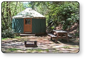 Yurts are a popular camping choice at many Guest First RV Resorts locations