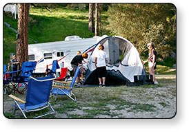 Guest First Resorts properties offer both tent camping and RV sites