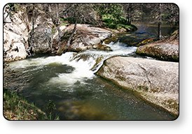 High Sierra RV Park And Campground Has Its Own Waterfalls Right In The